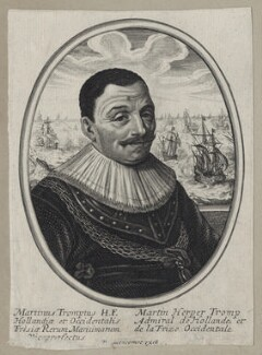 Maarten Tromp, published by Balthasar Moncornet, after  Unknown artist - NPG D30749