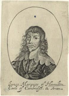 James Hamilton, 1st Duke of Hamilton, possibly by William Faithorne, after  Sir Anthony van Dyck - NPG D33006
