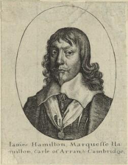 James Hamilton, 1st Duke of Hamilton, by Wenceslaus Hollar - NPG D33004