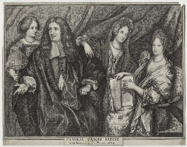 Charles Patin and Family, after Unknown artist - NPG D30770