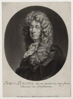 Hiob Ludolf (Job Leutholf), by Pieter Schenck, after  Unknown artist - NPG D30778