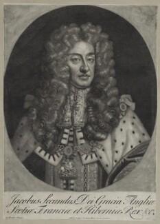 King James II, published by John Cooper, after  Sir Godfrey Kneller, Bt - NPG D30780