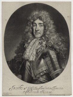 King James II, by and published by Isaac Beckett, after  Nicolas de Largillière, circa 1686 - NPG D30781 - © National Portrait Gallery, London