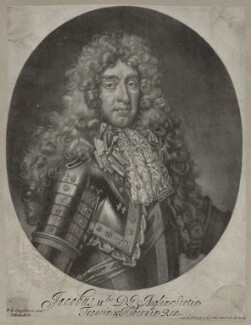 King James II, by and published by Isaac Beckett, after  Nicolas de Largillière, circa 1686 - NPG D30784 - © National Portrait Gallery, London
