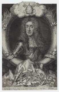 King James II, by George Vertue, after  Sir Godfrey Kneller, Bt - NPG D30782