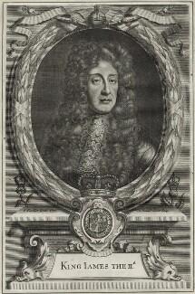 King James II, by Michael Vandergucht, after  Sir Godfrey Kneller, Bt - NPG D30797