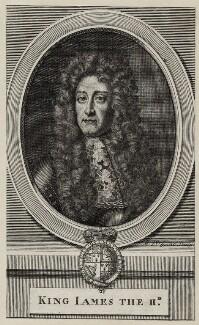 King James II, by Michael Vandergucht, after  Sir Godfrey Kneller, Bt - NPG D30798