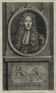 King James II, by Jean Audran, after  Adriaen van der Werff - NPG D30800