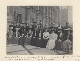 'Labour Members of Parliament and their wives who visited Germany in the Spring of 1909', by Benjamin Stone - NPG x36285