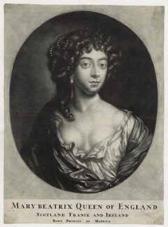 Mary of Modena, by John Griffier, after  Sir Peter Lely - NPG D30802