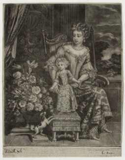Queen Anne when Princess, by Edward Cooper, after  Unknown artist, published by  John Smith, late 17th to early 18th century - NPG D30813 - © National Portrait Gallery, London