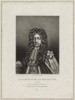 Laurence Hyde, 1st Earl of Rochester, by Robert Dunkarton, after  Sir Godfrey Kneller, Bt - NPG D30819