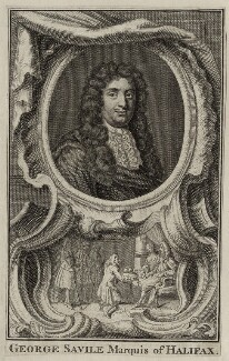 George Savile, 1st Marquess of Halifax, after Jacobus Houbraken - NPG D30822