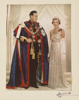Louis Mountbatten, Earl Mountbatten of Burma; Edwina Cynthia Annette (née Ashley), Countess Mountbatten of Burma, by Madame Yevonde - NPG P871(4)