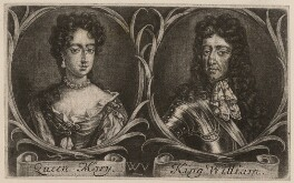 Queen Mary II; King William III, by Wallerant Vaillant, after  Unknown artist, 1677 - NPG D9227 - © National Portrait Gallery, London