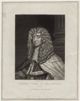 Robert Bruce, 1st Earl of Ailesbury and 2nd Earl of Elgin, by Robert Dunkarton, after  Sir Peter Lely, published 1814 - NPG D30826 - © National Portrait Gallery, London