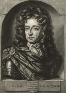 King William III, by John Faber Jr, after  Unknown artist - NPG D9228