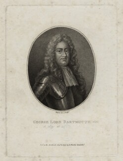 George Legge, 1st Baron Dartmouth, by Robert Shipster, after  Unknown artist, published by  R. Faulder - NPG D30829