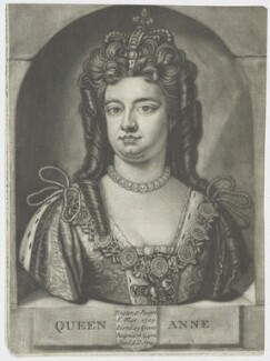 Queen Anne, by John Faber Jr, after  Unknown artist - NPG D9229