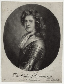 Charles Seymour, 6th Duke of Somerset, by John Smith, published by  Edward Cooper, after  Jan van der Vaart, 1688 - NPG D30839 - © National Portrait Gallery, London