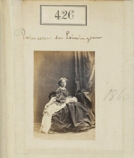 Marie of Baden, Princess of Leiningen, by Camille Silvy - NPG Ax50172