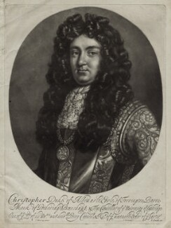 Christopher Monck, 2nd Duke of Albemarle, by Isaac Beckett, after  Thomas Murray, published by  John Smith - NPG D30843