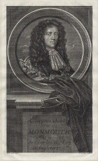 James Scott, Duke of Monmouth and Buccleuch, by Étienne Jehandier Desrochers, after  Sir Peter Lely - NPG D30846