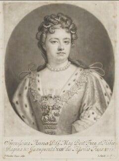 Queen Anne, by John Smith, after  Sir Godfrey Kneller, Bt, 1715-1724 - NPG D9230 - © National Portrait Gallery, London