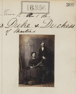 The Duke and Duchess of Chartres, by Camille Silvy - NPG Ax64270