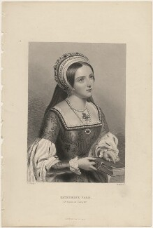 Fictitious portrait of Katherine Parr, by William Henry Mote, after  John William Wright, mid 19th century - NPG D33015 - © National Portrait Gallery, London