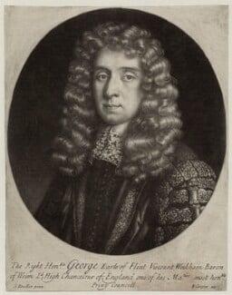 George Jeffreys, 1st Baron Jeffreys of Wem, by Edward Cooper, after  Sir Godfrey Kneller, Bt, 1686 - NPG D30857 - © National Portrait Gallery, London