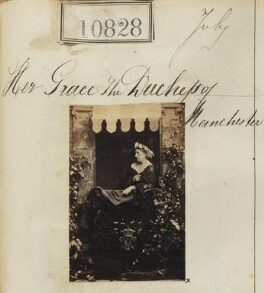Louise Frederica Augusta Cavendish (née von Alten), Duchess of Devonshire (formerly Duchess of Manchester), by Camille Silvy - NPG Ax60534