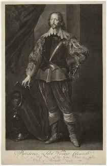 John Chaworth, 2nd Viscount Chaworth, by Pieter Stevens van Gunst, after  Sir Anthony van Dyck - NPG D33020