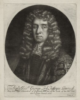 George Jeffreys, 1st Baron Jeffreys of Wem, published by Edward Cooper, after  Sir Godfrey Kneller, Bt - NPG D30858
