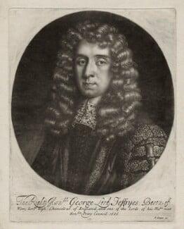 George Jeffreys, 1st Baron Jeffreys of Wem, published by Edward Cooper, after  Sir Godfrey Kneller, Bt, 1686 - NPG D30858 - © National Portrait Gallery, London