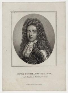 Henry Booth, 1st Earl of Warrington, published by John Scott, after  Sir Godfrey Kneller, Bt - NPG D30863