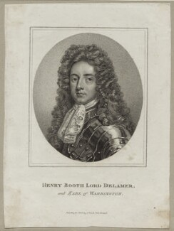 Henry Booth, 1st Earl of Warrington, published by John Scott, after  Sir Godfrey Kneller, Bt - NPG D30865