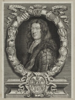 Patrick Lyon, 3rd Earl of Strathmore and Kinghorne, by Robert White, after  Sir Godfrey Kneller, Bt - NPG D30867