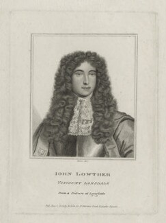 John Lowther, 1st Viscount Lonsdale, by Rivers, after  Unknown artist - NPG D30870