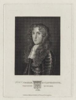 John Graham, 1st Viscount of Dundee, by Burnet Reading, published by  Thomas Rodd the Elder - NPG D30871