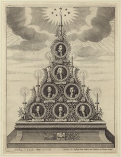 The Seven Bishops Committed to the Tower in 1688, by Simon Gribelin, sold by  Thomas Jefferys, sold by  William Herbert - NPG D30899