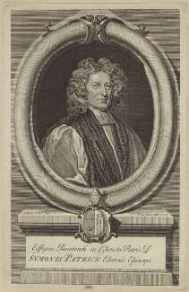 Simon Patrick, by Gerard Vandergucht, possibly after  Sir Godfrey Kneller, Bt - NPG D30909
