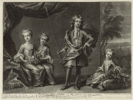 Children of King George II, published by Edward Cooper, after  Unknown artist, circa 1715-1720 - NPG D33029 - © National Portrait Gallery, London