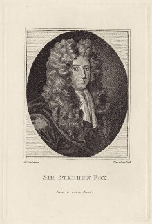Sir Stephen Fox, by Edward Harding, after  John James Backer - NPG D30922