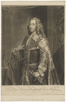 Frederick Lewis, Prince of Wales, by and published by John Faber Jr, after  Jeremiah Davison - NPG D33031