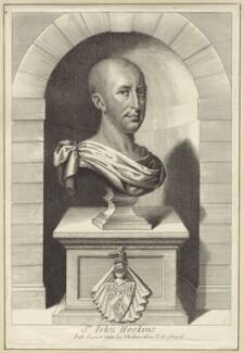 Sir John Hoskins, 2nd Bt, after Unknown artist, published by  William Richardson - NPG D30931