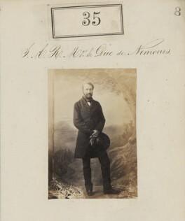 Louis Charles Philippe Raphaël d'Orléans, duc de Nemours, by Camille Silvy - NPG Ax50027