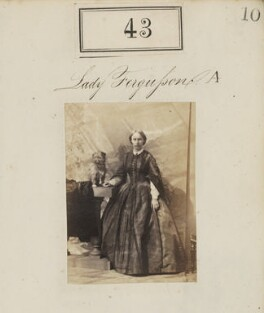 Lady Edith Christian Fergusson (née Ramsay), by Camille Silvy, 1860 - NPG Ax50035 - © National Portrait Gallery, London