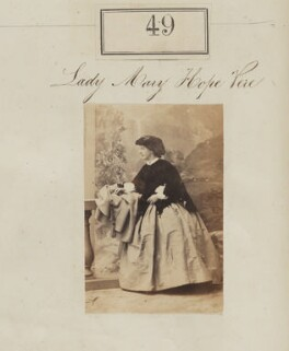 Mary Emily Hope-Vere (née Boyle, later Lady Kennedy), by Camille Silvy - NPG Ax50041