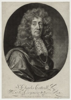 Sir Charles Cotterell, by Robert Williams, after  John Riley - NPG D30949